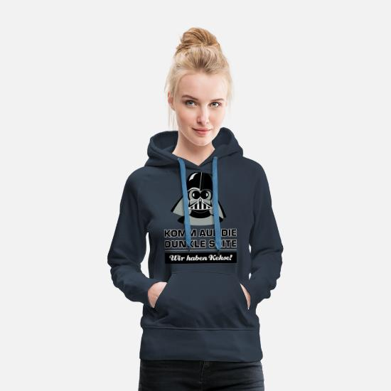 Darth Pullover & Hoodies - Darth Kiddo - Frauen Premium Hoodie Navy