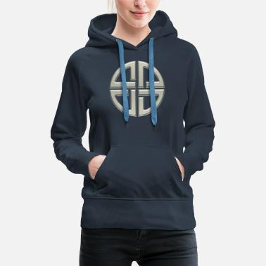Universe Celtic shield knot, Protection Amulet, Germanic, - Women's Premium Hoodie