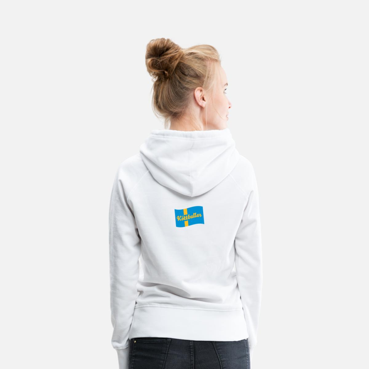 Sverige flagga köttbullar Premiumluvtröja dam vit