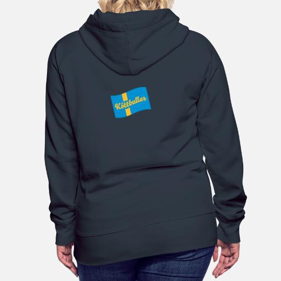 Sverige flagga köttbullar Premium hoodie dam | Spreadshirt