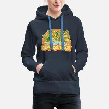 TMNT  Surfing Turtles - Women's Premium Hoodie