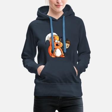 Rescue Squirrel - Animal - Animals - Acorn - Gift - Women's Premium Hoodie