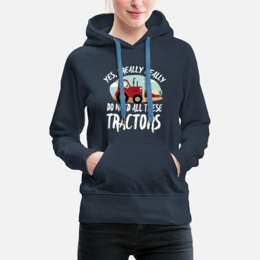 Tractor &amp Chicken Farmer T-Shirt - Women's Premium Hoodie