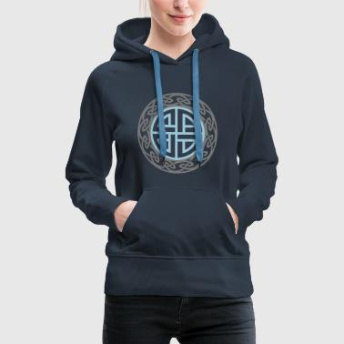 Celtic Shield Knot, Protection, Four Corner, Norse - Women's Premium Hoodie