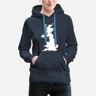 Uk Karte UK, UK Map - Frauen Premium Hoodie