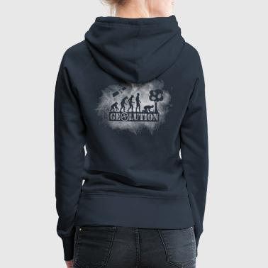 Geocaching Geolution-light-grunge - Frauen Premium Hoodie