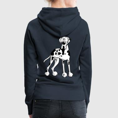 Great Dane - Dog - Dogs - Breed - Cartoon - Women's Premium Hoodie