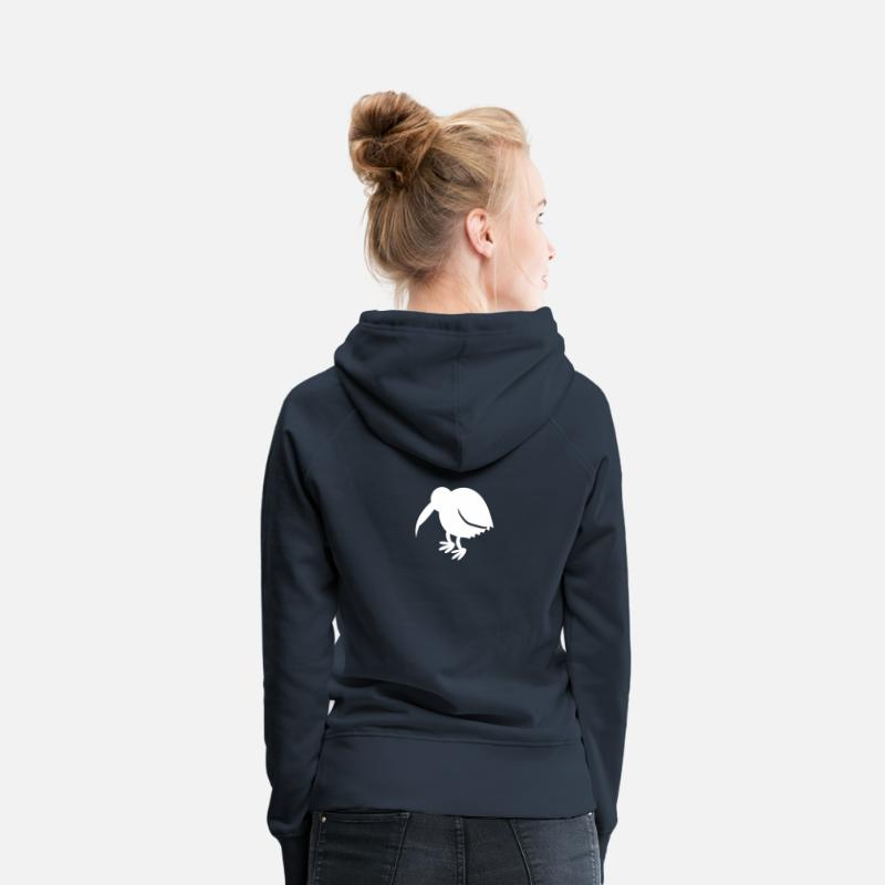New Zealand Hoodies & Sweatshirts - kiwi bird with long beak cute NEW ZEALAND - Women's Premium Hoodie navy