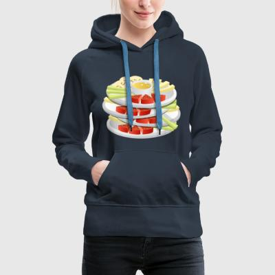 cheese cheese pizza sandwich mouse mouse food99 - Women's Premium Hoodie