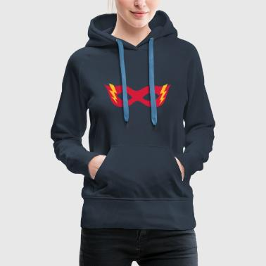 Comic, Cartoon, Hero mask, , Superhero - Sweat-shirt à capuche Premium pour femmes