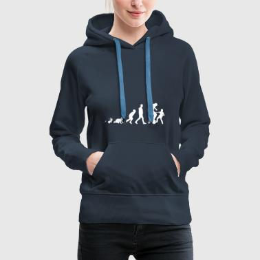 Father Son Fun Shirt Gifts Grow Evolution - Women's Premium Hoodie