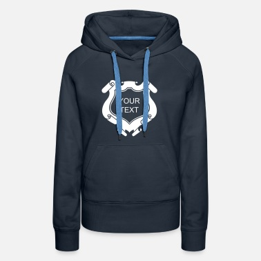 Crest Crest Your Text, Family, Heraldry, Coat of Arms - Women's Premium Hoodie