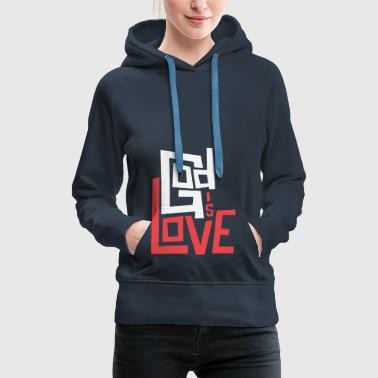 God is Love - Women's Premium Hoodie