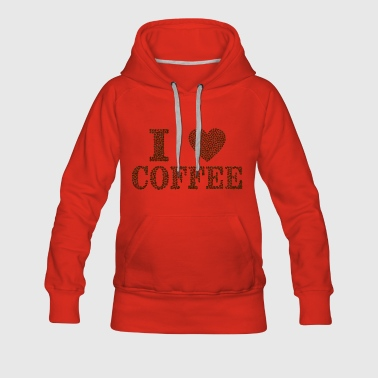 coffee cup beans cafe mug coffee pot beans177 - Women's Premium Hoodie