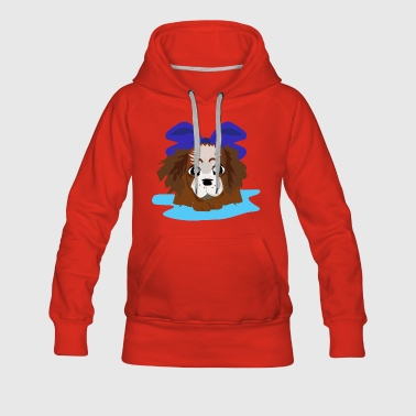 LOVELY BLUE PUPPY - Women's Premium Hoodie