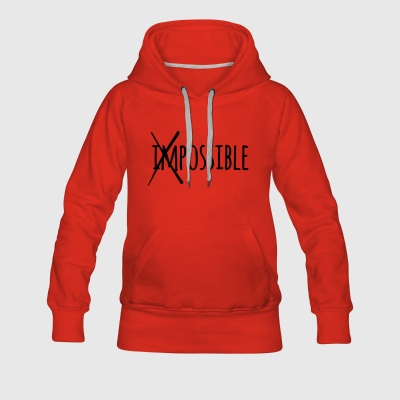 Impossible Possible 1c - Frauen Premium Hoodie