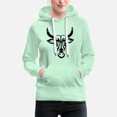 Tatoo tribal bull tatoo tattoo - Women's Premium Hoodie