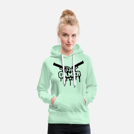 Play Hoodies & Sweatshirts - Pro Gamer - Women's Premium Hoodie light mint