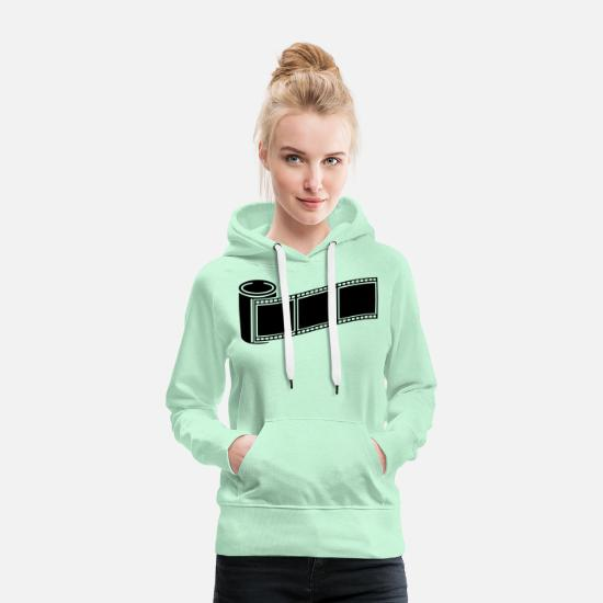 Image Hoodies & Sweatshirts - photo_retro_1_f1 - Women's Premium Hoodie light mint