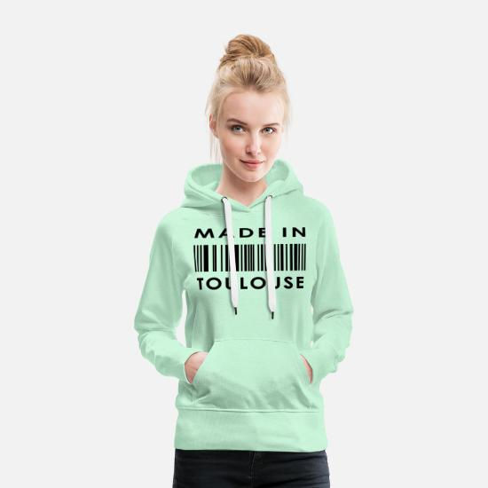 Year Of Birth Hoodies & Sweatshirts - Toulouse - Women's Premium Hoodie light mint
