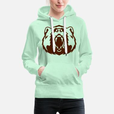 Skurk ours tete animal mechant 1 62 - Premium hoodie dam