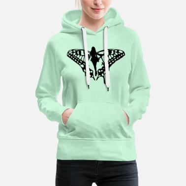 Black elf with big wings - Women's Premium Hoodie