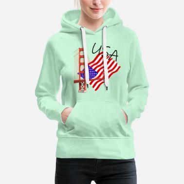 USA Golden Gate Bridge - Women's Premium Hoodie