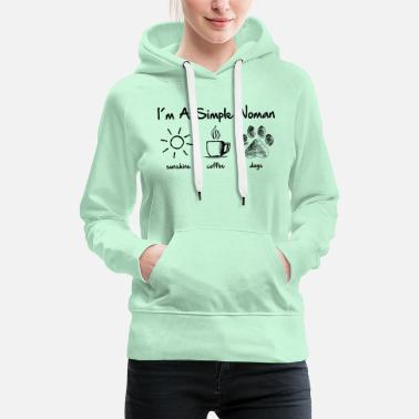 Dog simple woman dog - Frauen Premium Hoodie