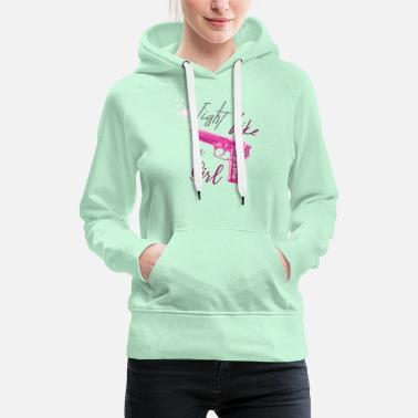 fight like a girl - Women's Premium Hoodie