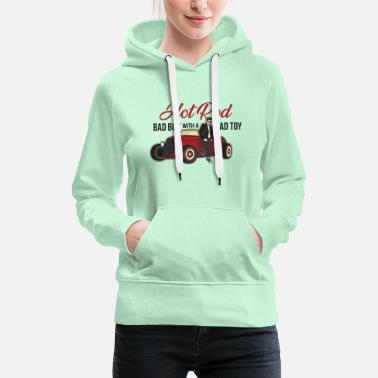 Hot Rod Rock Musik Rock'n'Roll Hot Rod T-Shirt - Frauen Premium Hoodie