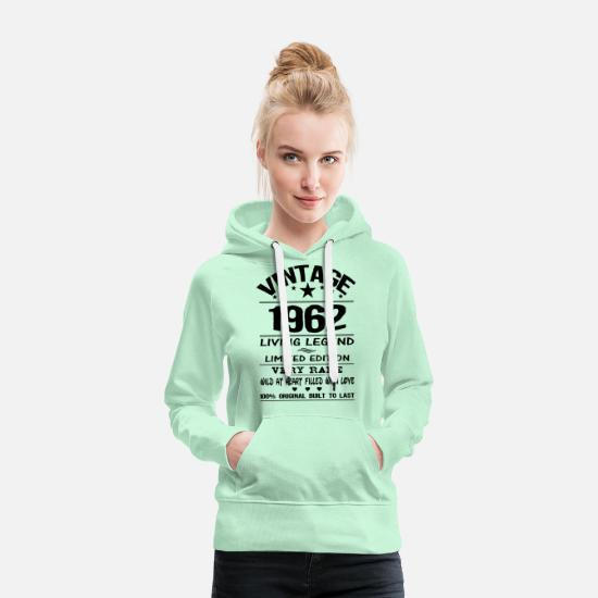 Vintage 1962 Shirt Hoodies & Sweatshirts - VINTAGE 1962 - Women's Premium Hoodie light mint