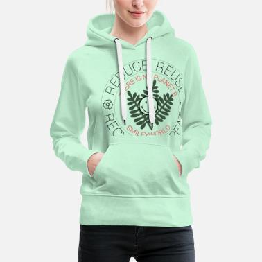 SmileyWorld Reduce Reuse Recycle Repeat - Premium hoodie dam