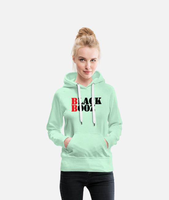 Brand Hoodies & Sweatshirts - BLACK BOOZ cool new brand label - Women's Premium Hoodie light mint