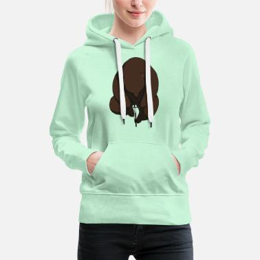 Mode Bicycling Bear Brown Bear Grizzly Funny Bike - Women's Premium Hoodie