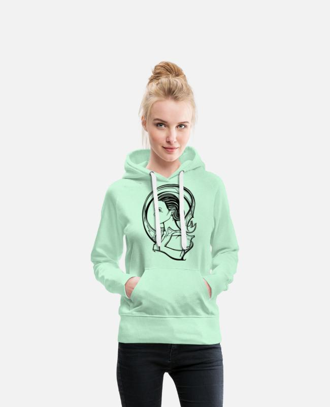 Bombshell Hoodies & Sweatshirts - Model - Women's Premium Hoodie light mint