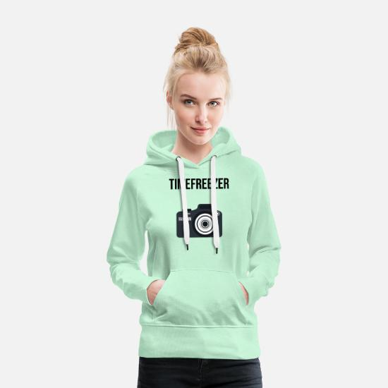 Lightning Hoodies & Sweatshirts - Camera Photographer Image Motive SLR Gift - Women's Premium Hoodie light mint