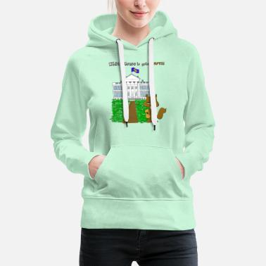 White White House going NUTS - Women's Premium Hoodie