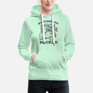 Book pun bookworms reading - Women's Premium Hoodie