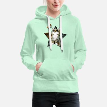 Kitten and butterfly - Women's Premium Hoodie