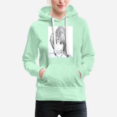 Ponytail Manga with ponytail - Women's Premium Hoodie