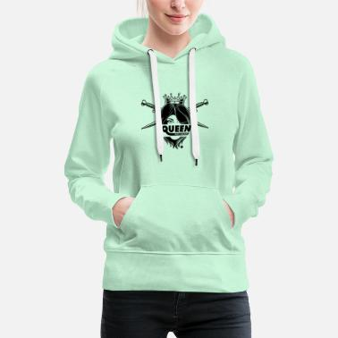 Masculinity Alpha Queen with a bearded - Women's Premium Hoodie