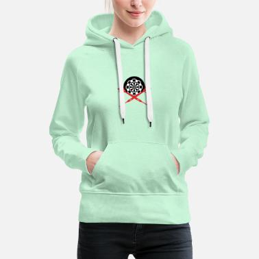 Arrow Dartboard and arrows - Women's Premium Hoodie