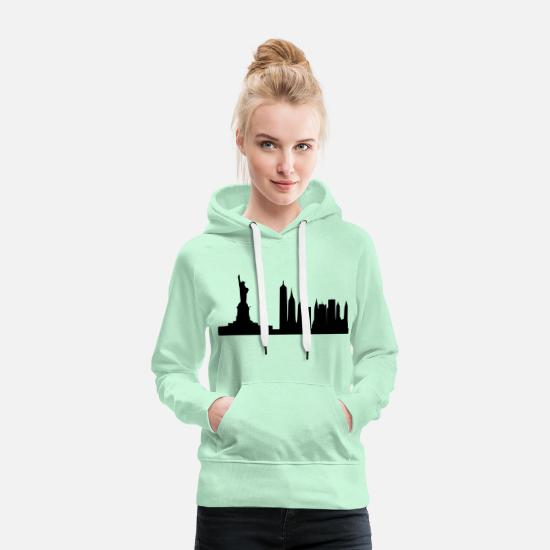 New Hoodies & Sweatshirts - new York - Women's Premium Hoodie light mint