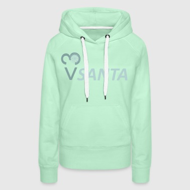 santa love icecream 4x2 - Frauen Premium Hoodie