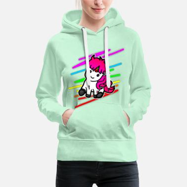 Dreamer Colorful unicorn - Women's Premium Hoodie