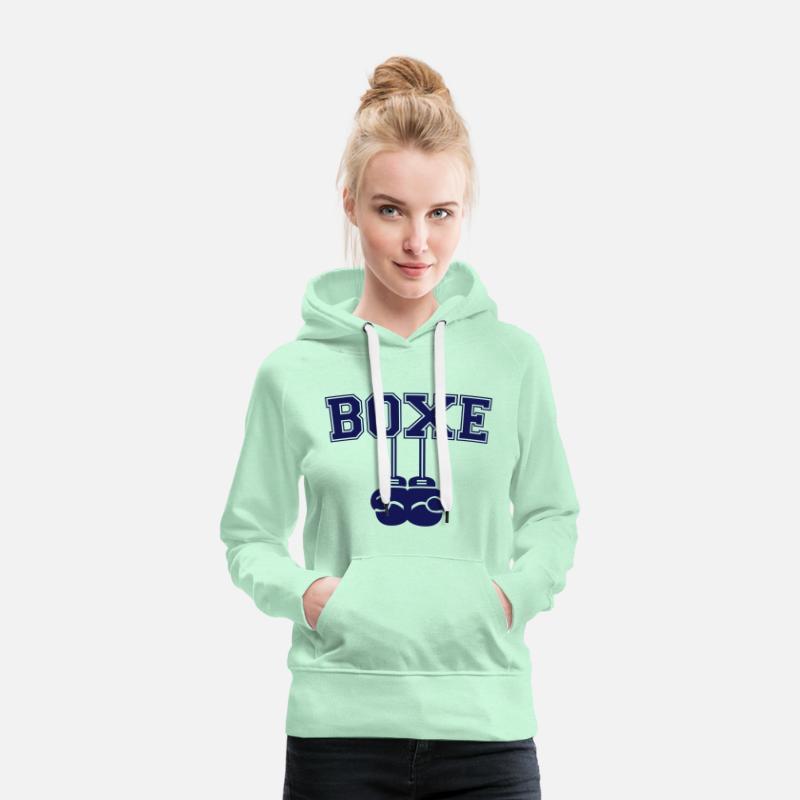Femme Boxe capuche Spreadshirt Sweat à premium qxTZvAw