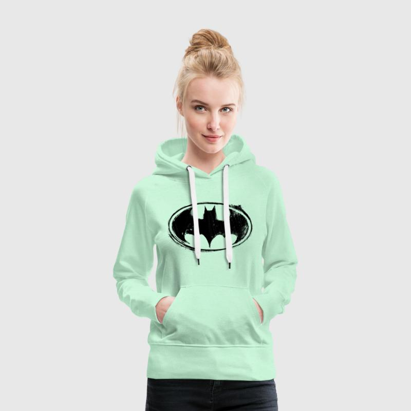 Batman Logo black retro - Sweat-shirt à capuche Premium pour femmes