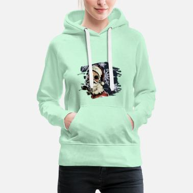 Holly santa face - Women's Premium Hoodie