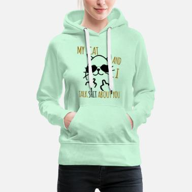 funny cats T-Shirt middle finger cat Cat - Women's Premium Hoodie
