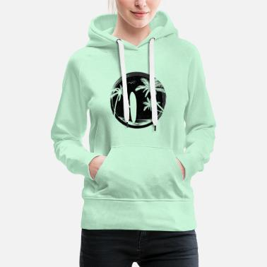 Sporty Surfer and Rider T-Shirt Watersports Tee - Women's Premium Hoodie